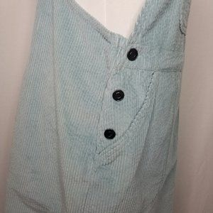 wild fable Dresses - Wild Fable Sleeveless Corduroy Overall Dress Teal